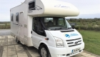 Rimor 6 Berth campervan exterior front and side