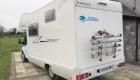 Rimor 6 Berth campervan exterior back and side