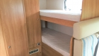 Rimor 6 Berth campervan interior rear bunk beds