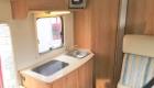 Rimor 6 Berth campervan interior sink and cooker