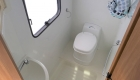 Rimor 6 Berth campervan interior toilet, shower and sink