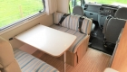 Rimor 6 Berth campervan interior table setup