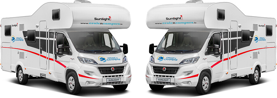 Two campervans facing each other